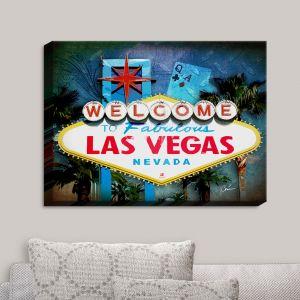 Decorative Canvas Wall Art   Corina Bakke - Vegas Sign Blue