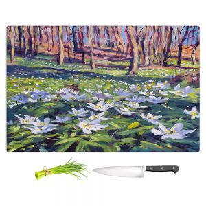 Artistic Kitchen Bar Cutting Boards | David Lloyd Glover - Anemones in the Meadow | field forest nature