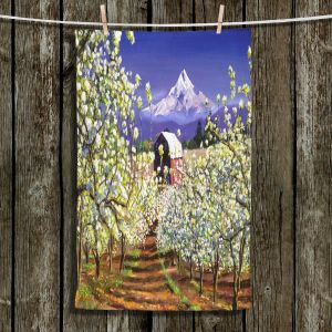 Unique Hanging Tea Towels | David Lloyd Glover - Appleblossoms Mount Hood | landscape mountain nature