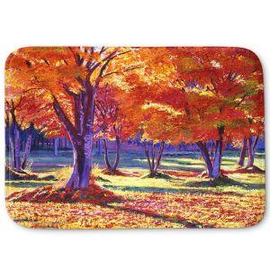 Decorative Bathroom Mats | David Lloyd Glover - Autumn Leaves | forest park tree