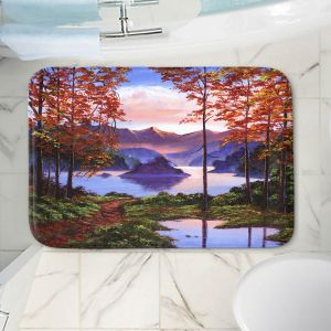 Decorative Bathroom Mats | David Lloyd Glover - Autumn Perfectly Still | landscape lake forest