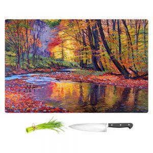Artistic Kitchen Bar Cutting Boards | David Lloyd Glover - Autumn Prelude