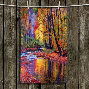 Decorative Hand Towel from DiaNoche Designs by David Lloyd Glover - Autumn Prelude
