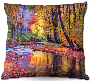 Decorative Outdoor Patio Pillow Cushion   David Lloyd Glover - Autumn Prelude