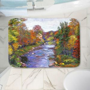 Decorative Bathroom Mats | David Lloyd Glover - Autumn River | landscape nature stream forest