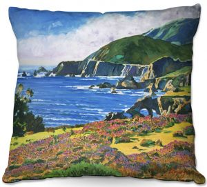 Unique Outdoor Pillow 16X16 from DiaNoche Designs by David Lloyd Glover - Big Sur 2
