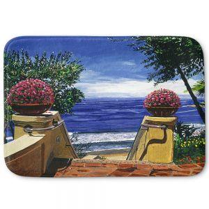 Decorative Bathroom Mats   David Lloyd Glover - Blue Pacific Ocean   coast ocean beach patio