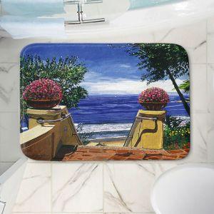 Decorative Bathroom Mats | David Lloyd Glover - Blue Pacific Ocean | coast ocean beach patio