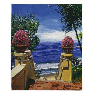Decorative Fleece Throw Blankets | David Lloyd Glover - Blue Pacific Ocean | coast ocean beach patio