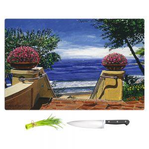 Artistic Kitchen Bar Cutting Boards | David Lloyd Glover - Blue Pacific Ocean | coast ocean beach patio