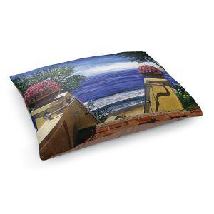 Decorative Dog Pet Beds | David Lloyd Glover - Blue Pacific Ocean | coast ocean beach patio