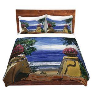Artistic Duvet Covers and Shams Bedding | David Lloyd Glover - Blue Pacific Ocean | coast ocean beach patio