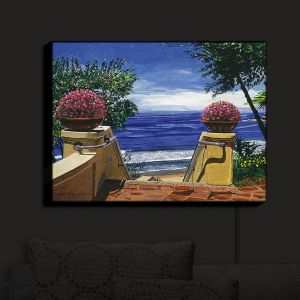 Nightlight Sconce Canvas Light | David Lloyd Glover - Blue Pacific Ocean