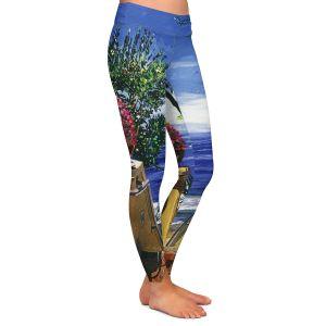 Casual Comfortable Leggings | David Lloyd Glover - Blue Pacific Ocean | coast ocean beach patio