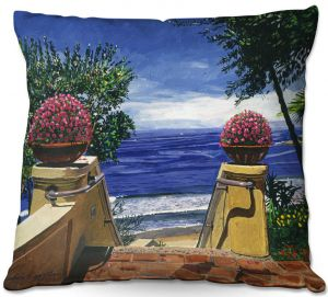 Throw Pillows Decorative Artistic | David Lloyd Glover - Blue Pacific Ocean | coast ocean beach patio