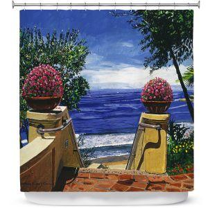 Premium Shower Curtains   David Lloyd Glover - Blue Pacific Ocean   coast ocean beach patio