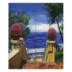 Decorative Wood Plank Wall Art | David Lloyd Glover - Blue Pacific Ocean | coast ocean beach patio