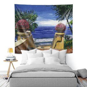 Artistic Wall Tapestry | David Lloyd Glover - Blue Pacific Ocean | coast ocean beach patio