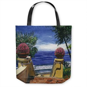 Unique Shoulder Bag Tote Bags | David Lloyd Glover - Blue Pacific Ocean | coast ocean beach patio