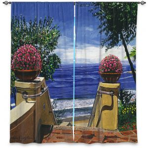 Decorative Window Treatments   David Lloyd Glover - Blue Pacific Ocean   coast ocean beach patio