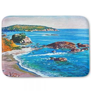 Decorative Bathroom Mats | David Lloyd Glover - California Coast | coast landscape ocean island