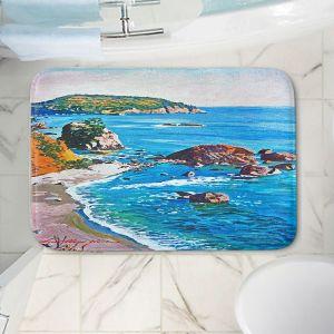 Decorative Bathroom Mats | David Lloyd Glover - California Coast | coast landscape ocean island