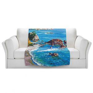Artistic Sherpa Pile Blankets   David Lloyd Glover - California Coast   coast landscape ocean island