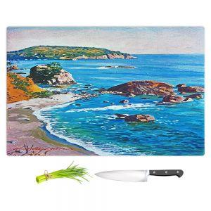 Artistic Kitchen Bar Cutting Boards | David Lloyd Glover - California Coast | coast landscape ocean island