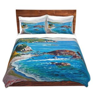 Artistic Duvet Covers and Shams Bedding | David Lloyd Glover - California Coast | coast landscape ocean island