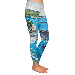 Casual Comfortable Leggings | David Lloyd Glover - California Coast | coast landscape ocean island
