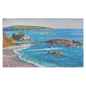 Artistic Pashmina Scarf | David Lloyd Glover - California Coast | coast landscape ocean island