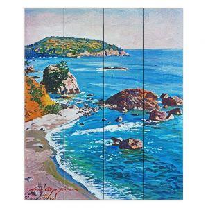 Decorative Wood Plank Wall Art | David Lloyd Glover - California Coast | coast landscape ocean island