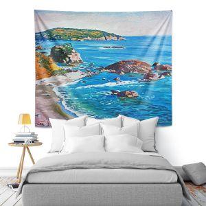 Artistic Wall Tapestry | David Lloyd Glover - California Coast | coast landscape ocean island