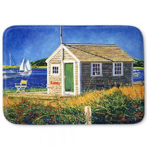 Decorative Bathroom Mats | David Lloyd Glover - Cape Cod Boat House | shack boats bay sea ocean harbor