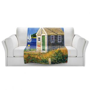 Artistic Sherpa Pile Blankets | David Lloyd Glover - Cape Cod Boat House | shack boats bay sea ocean harbor