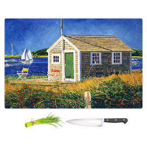 Artistic Kitchen Bar Cutting Boards | David Lloyd Glover - Cape Cod Boat House | shack boats bay sea ocean harbor