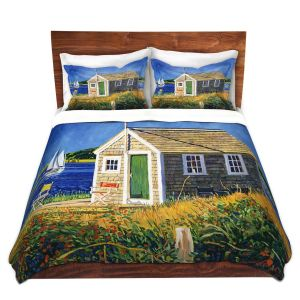 Artistic Duvet Covers and Shams Bedding | David Lloyd Glover - Cape Cod Boat House | shack boats bay sea ocean harbor