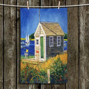 Unique Hanging Tea Towels | David Lloyd Glover - Cape Cod Boat House | shack boats bay sea ocean harbor