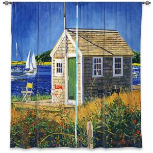 Decorative Window Treatments | David Lloyd Glover - Cape Cod Boat House | shack boats bay sea ocean harbor
