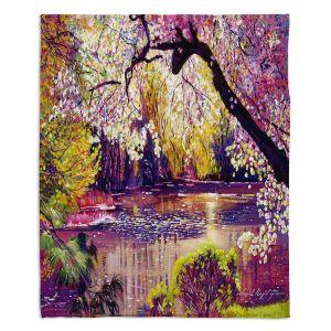 Decorative Fleece Throw Blankets   David Lloyd Glover - Central Park Spring Pond