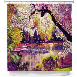 Premium Shower Curtains | David Lloyd Glover Central Park Spring Pond