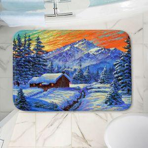 Decorative Bathroom Mats | David Lloyd Glover - Christmas Japan | Japan Mountain Cabin