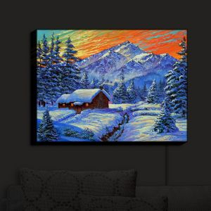 Nightlight Sconce Canvas Light | David Lloyd Glover - Christmas Japan | Japan Mountain Cabin