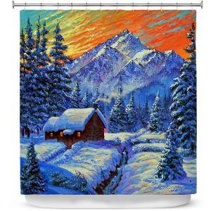 Premium Shower Curtains | David Lloyd Glover - Christmas Japan