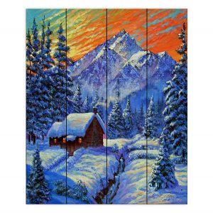 Decorative Wood Plank Wall Art | David Lloyd Glover - Christmas Japan | Japan Mountain Cabin