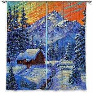 Decorative Window Treatments   David Lloyd Glover - Christmas Japan   Japan Mountain Cabin