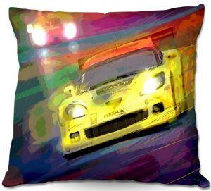 Throw Pillows Decorative Artistic   David Lloyd Glover Corvette LeMans