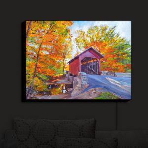Nightlight Sconce Canvas Light   David Lloyd Glover - Covered Bridge   road landscape path