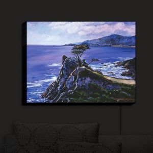 Nightlight Sconce Canvas Light | David Lloyd Glover - Cypress Point Monterey | coast landscape ocean water
