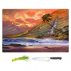 Artistic Kitchen Bar Cutting Boards   David Lloyd Glover - Dawn in Oahu